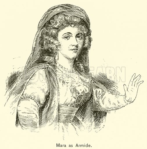 Mara as Armide. Illustration for Cyclopedia of Music and Musicians edited by John Denison Champlin (Charles Scribner, 1889).
