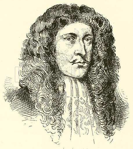 Heinrich Johann Franz von Biber, 1644–1704. Illustration for Cyclopedia of Music and Musicians edited by John Denison Champlin (Charles Scribner, 1889).