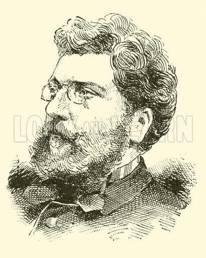 (Charles Cesar Leopold) called Georges Bizet, 1838-1875. Illustration for Cyclopedia of Music and Musicians edited by John Denison Champlin (Charles Scribner, 1889).