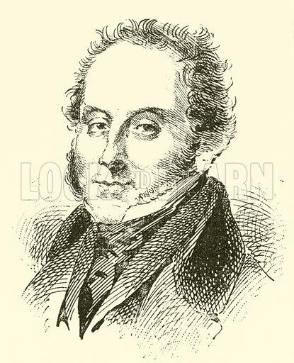 Robert Nicolas Charles Bochsa, 1789–1856. Illustration for Cyclopedia of Music and Musicians edited by John Denison Champlin (Charles Scribner, 1889).