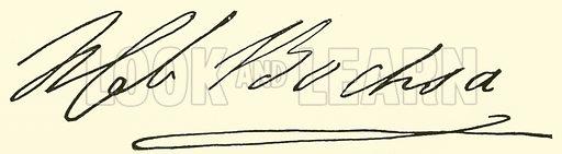 Robert Nicolas Charles Bochsa, 1789–1856, signature. Illustration for Cyclopedia of Music and Musicians edited by John Denison Champlin (Charles Scribner, 1889).