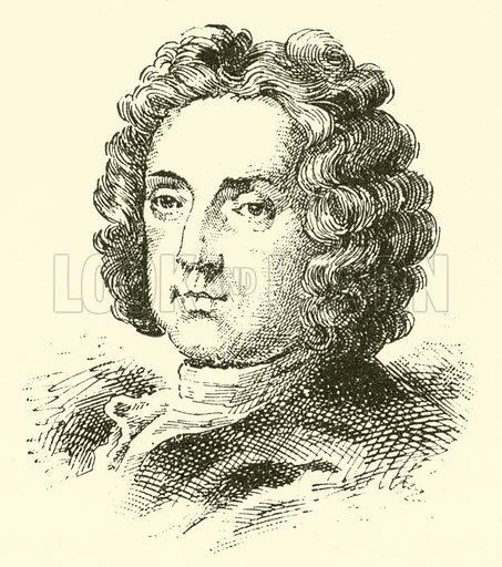 Giovanni Battista Bononcini (Buononcini), 1660–1750. Illustration for Cyclopedia of Music and Musicians edited by John Denison Champlin (Charles Scribner, 1889).