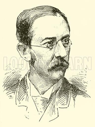 John Frederick Bridge. Illustration for Cyclopedia of Music and Musicians edited by John Denison Champlin (Charles Scribner, 1889).