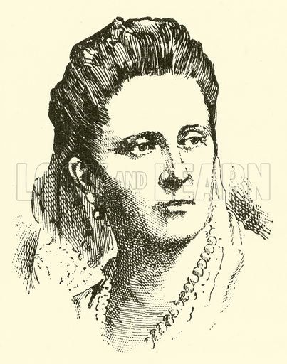 Madame Ingeborg von Bronsart. Illustration for Cyclopedia of Music and Musicians edited by John Denison Champlin (Charles Scribner, 1889).