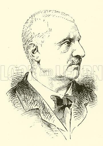 Anton Bruckner. Illustration for Cyclopedia of Music and Musicians edited by John Denison Champlin (Charles Scribner, 1889).