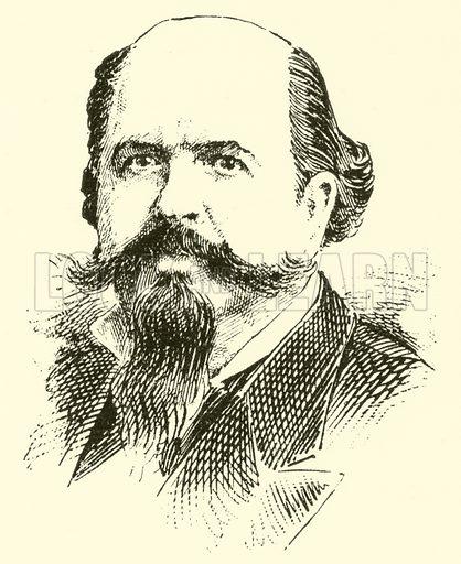 (Manuel) Fernandez Caballero. Illustration for Cyclopedia of Music and Musicians edited by John Denison Champlin (Charles Scribner, 1889).