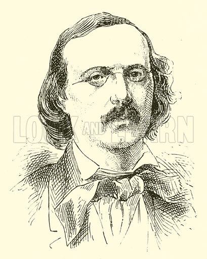 Peter Cornelius, 1824–1874. Illustration for Cyclopedia of Music and Musicians edited by John Denison Champlin (Charles Scribner, 1889).