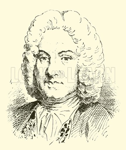 Francois Couperin (surnamed Le Grand), 1668–1733. Illustration for Cyclopedia of Music and Musicians edited by John Denison Champlin (Charles Scribner, 1889).