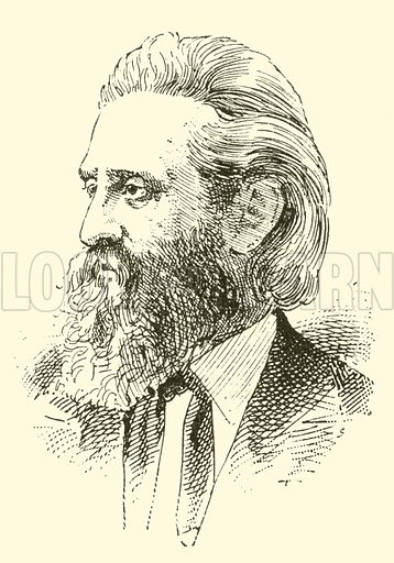 Leopold Damrosch. Illustration for Cyclopedia of Music and Musicians edited by John Denison Champlin (Charles Scribner, 1889).