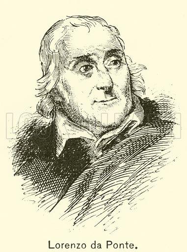 Lorenzo de Ponte. Illustration for Cyclopedia of Music and Musicians edited by John Denison Champlin (Charles Scribner, 1889).