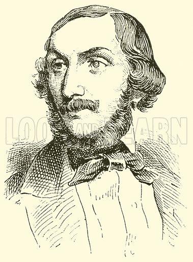 Heinrich Wilhelm Ernst, 1814–1865. Illustration for Cyclopedia of Music and Musicians edited by John Denison Champlin (Charles Scribner, 1889).