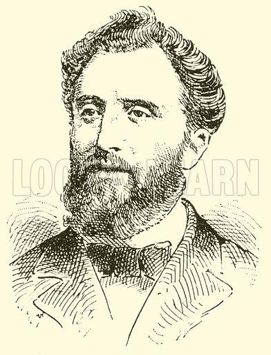 Friedrich Gernsheim. Illustration for Cyclopedia of Music and Musicians edited by John Denison Champlin (Charles Scribner, 1889).