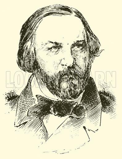 Michail Ivanovitchde Glinka, 1804–1857. Illustration for Cyclopedia of Music and Musicians edited by John Denison Champlin (Charles Scribner, 1889).