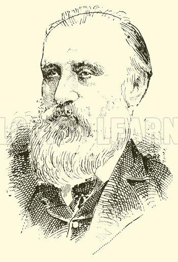 John William Glover. Illustration for Cyclopedia of Music and Musicians edited by John Denison Champlin (Charles Scribner, 1889).