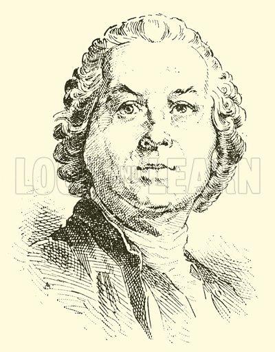 Christoph Willibald Ritter von Gluck, 1714–1787. Illustration for Cyclopedia of Music and Musicians edited by John Denison Champlin (Charles Scribner, 1889).