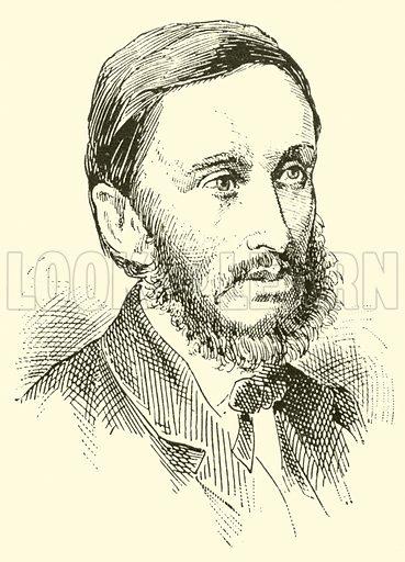 Hermann Goetz, 1840–1876. Illustration for Cyclopedia of Music and Musicians edited by John Denison Champlin (Charles Scribner, 1889).
