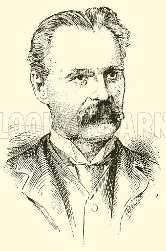 Robert Goldbeck. Illustration for Cyclopedia of Music and Musicians edited by John Denison Champlin (Charles Scribner, 1889).