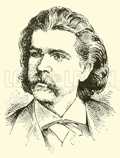 Antonio Carlos Gomez. Illustration for Cyclopedia of Music and Musicians edited by John Denison Champlin (Charles Scribner, 1889).