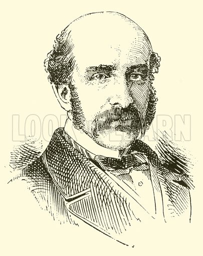 Otto Goldschmidt. Illustration for Cyclopedia of Music and Musicians edited by John Denison Champlin (Charles Scribner, 1889).