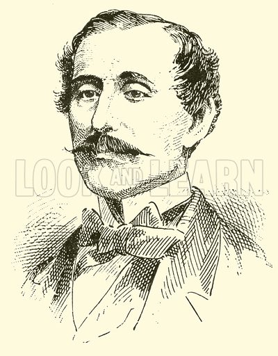 Louis Moreau Gottschalk, 1829–1869. Illustration for Cyclopedia of Music and Musicians edited by John Denison Champlin (Charles Scribner, 1889).