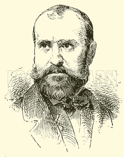 Charles (Francois) Gounod. Illustration for Cyclopedia of Music and Musicians edited by John Denison Champlin (Charles Scribner, 1889).