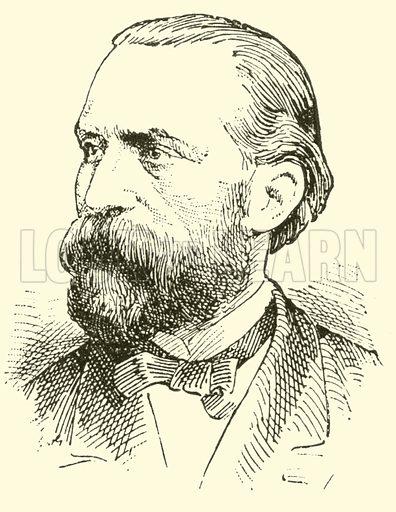 Friedrich (Wilhelm Ludwig) Grutzmacher. Illustration for Cyclopedia of Music and Musicians edited by John Denison Champlin (Charles Scribner, 1889).