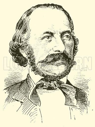 Ferdinand Gumbert. Illustration for Cyclopedia of Music and Musicians edited by John Denison Champlin (Charles Scribner, 1889).