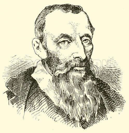 Adam Gumpeltzhaimer, 1559–1625. Illustration for Cyclopedia of Music and Musicians edited by John Denison Champlin (Charles Scribner, 1889).