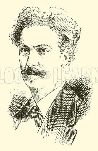 Asger Hamerik. Illustration for Cyclopedia of Music and Musicians edited by John Denison Champlin (Charles Scribner, 1889).