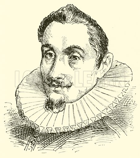 Hans Leo (Leonhard) Hassler (Hasler), 1564–1612. Illustration for Cyclopedia of Music and Musicians edited by John Denison Champlin (Charles Scribner, 1889).