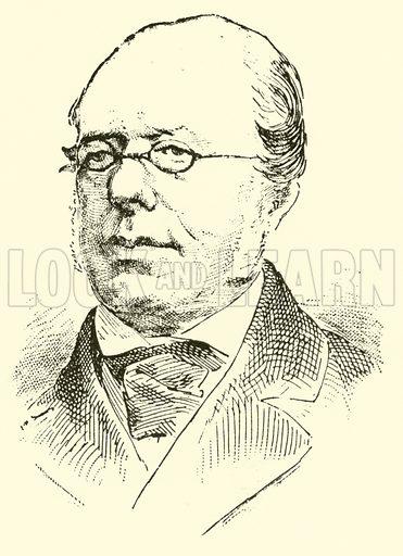 Moritz Hauptmann, 1792–1868. Illustration for Cyclopedia of Music and Musicians edited by John Denison Champlin (Charles Scribner, 1889).