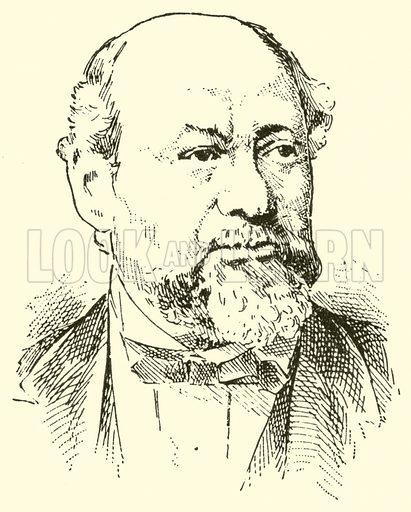 Miska (Michael) Hauser, 1822–1887. Illustration for Cyclopedia of Music and Musicians edited by John Denison Champlin (Charles Scribner, 1889).