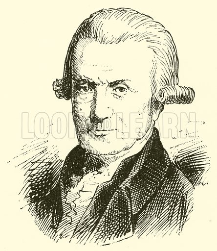 (Johann) Michael Haydn, 1737–1806. Illustration for Cyclopedia of Music and Musicians edited by John Denison Champlin (Charles Scribner, 1889).