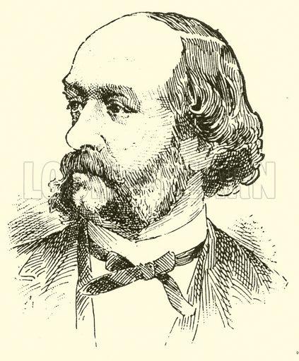 Joseph Hellmesberger. Illustration for Cyclopedia of Music and Musicians edited by John Denison Champlin (Charles Scribner, 1889).