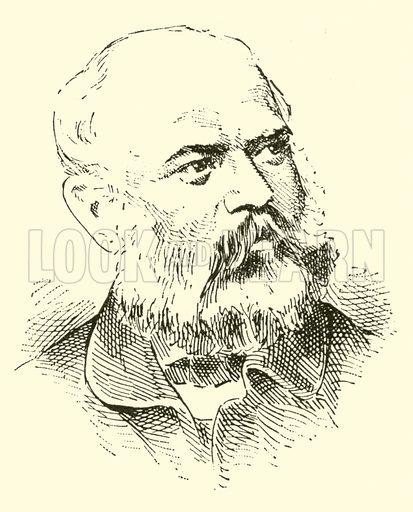 Adolf von Henselt. Illustration for Cyclopedia of Music and Musicians edited by John Denison Champlin (Charles Scribner, 1889).