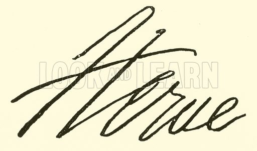 Herve (Florimond Ronger, called), signature. Illustration for Cyclopedia of Music and Musicians edited by John Denison Champlin (Charles Scribner, 1889).