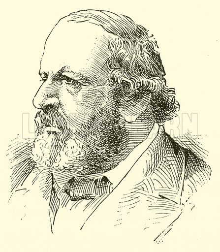 Ferdinand Hiller, 1811–1885. Illustration for Cyclopedia of Music and Musicians edited by John Denison Champlin (Charles Scribner, 1889).
