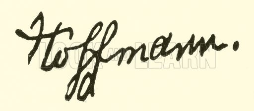 Ernst (Theodor Amadeus) Hoffmann, 1776–1822, signature. Illustration for Cyclopedia of Music and Musicians edited by John Denison Champlin (Charles Scribner, 1889).