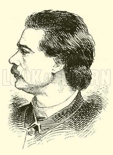 August Hyllested. Illustration for Cyclopedia of Music and Musicians edited by John Denison Champlin (Charles Scribner, 1889).
