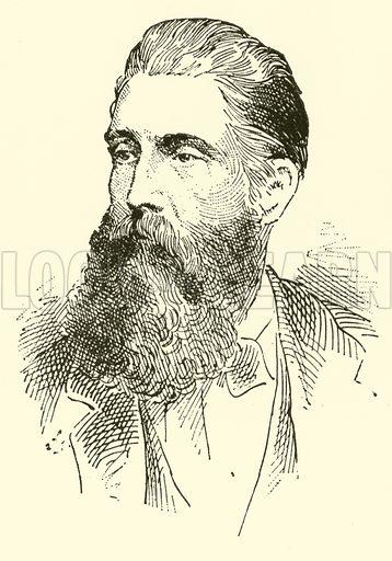 Adolf Jensen, 1837–1879. Illustration for Cyclopedia of Music and Musicians edited by John Denison Champlin (Charles Scribner, 1889).