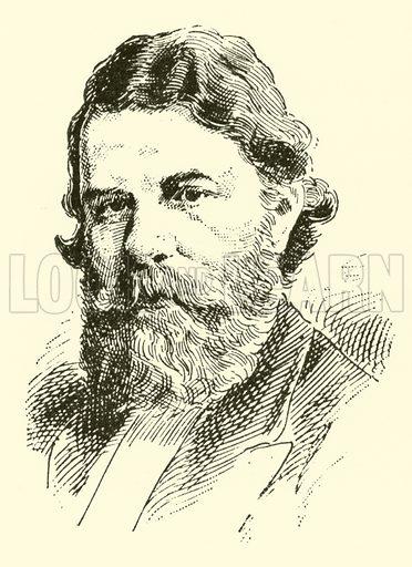 Joseph Joachim. Illustration for Cyclopedia of Music and Musicians edited by John Denison Champlin (Charles Scribner, 1889).