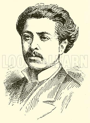 Rafael Joseffy. Illustration for Cyclopedia of Music and Musicians edited by John Denison Champlin (Charles Scribner, 1889).