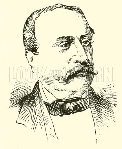 Johann Wenzel Kalliwoda, 1801–1866. Illustration for Cyclopedia of Music and Musicians edited by John Denison Champlin (Charles Scribner, 1889).