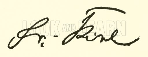 Friedrich Kiel, 1821–1885, signature. Illustration for Cyclopedia of Music and Musicians edited by John Denison Champlin (Charles Scribner, 1889).