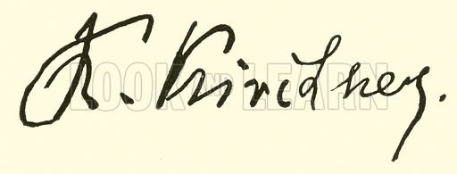 Theodor Kirchner, signature. Illustration for Cyclopedia of Music and Musicians edited by John Denison Champlin (Charles Scribner, 1889).