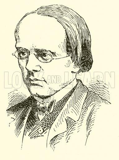 Halfdan Kjerulf, 1815–1868. Illustration for Cyclopedia of Music and Musicians edited by John Denison Champlin (Charles Scribner, 1889).