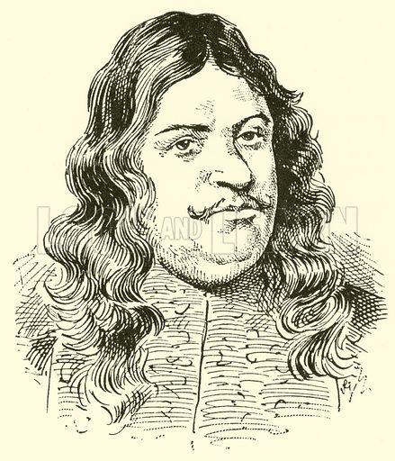 Adam Krieger, 1634–1666. Illustration for Cyclopedia of Music and Musicians edited by John Denison Champlin (Charles Scribner, 1889).