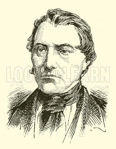 Joseph Labitzky (Labtski). Illustration for Cyclopedia of Music and Musicians edited by John Denison Champlin (Charles Scribner, 1889).