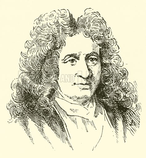 Michel Richard de Lalande, 1657–1726. Illustration for Cyclopedia of Music and Musicians edited by John Denison Champlin (Charles Scribner, 1889).