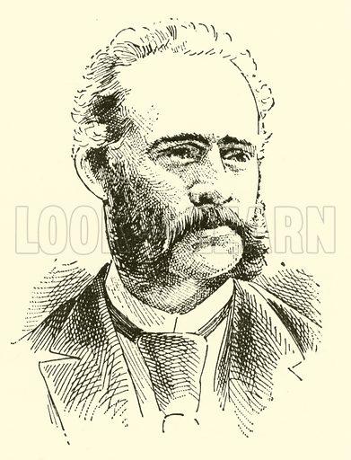 Eduard Lassen. Illustration for Cyclopedia of Music and Musicians edited by John Denison Champlin (Charles Scribner, 1889).